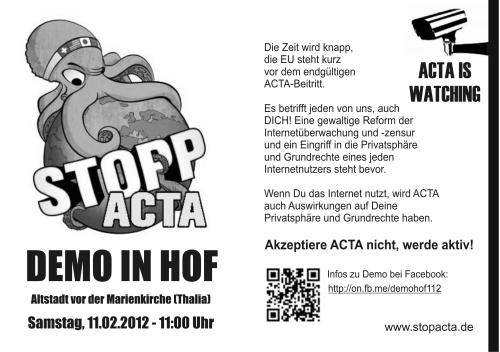Vorschau Stopp-Acta Flyer Hof
